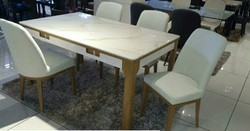30 inch Marble Top Dining Table Set
