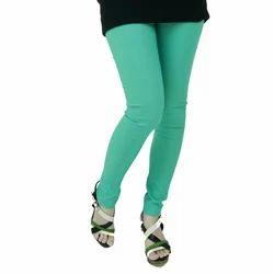 Ladies Green Cotton Legging