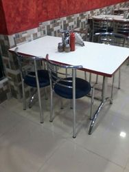 Steel Chair And Table