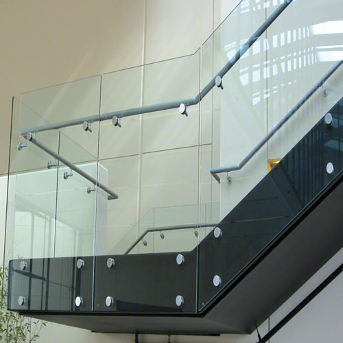 Bar Silver Frameless Glass Railing, Rs 250 /meter, Rajguru
