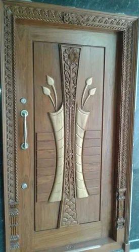 Teakwood door design indian home main door design main for Readymade teak wood doors hyderabad