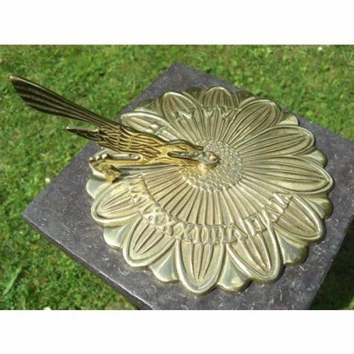 Sunflower Design Brass Polished Garden Sundial