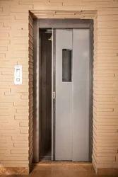 Stainless Steel Manual Telescopic Elevator Door