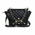 Leather Black Sling Bag
