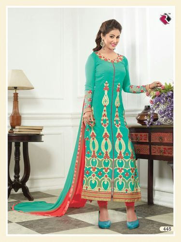 fc52ac053e Georgette Embroidered Fancy Unstitched Salwar Kameez, Rs 1095 /piece ...