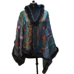 Fox Fur Embroidered Scarves
