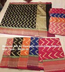 Banarasi Silk By Georgette Lahri Designer Saree