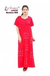 Multi Color Cotton Nightgown