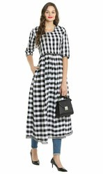Black and White Women Kurtis