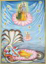 Lord Vishnu Miniature Painting, Size: 10