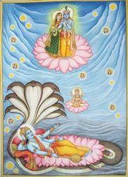 Lord Vishnu Miniature Painting