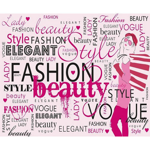 Vinyl Horizontal Vertical Fashion Beauty Text Graphic Wallpaper