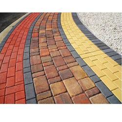 Colored Outdoor Concrete Paver Block, Thickness: 60 mm