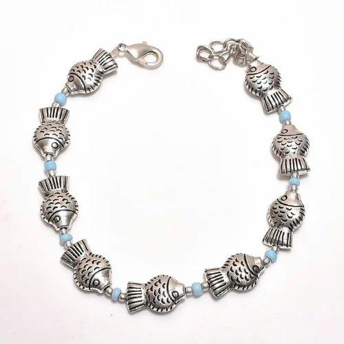 Oxidised Silver Bracelet Rs 60 Piece Aditi Gems Id 18682483097