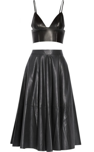 Leather Two Piece Dress