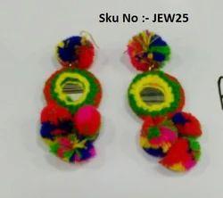 Silk Thread Dangler Earrings