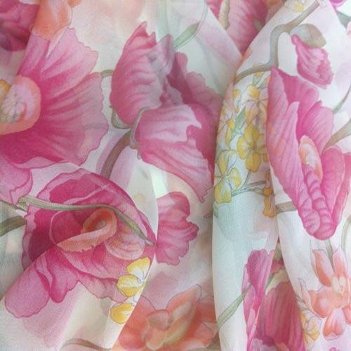 Printed Poly Chiffon Fabric