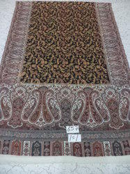 Pure Wool Kani Border with Centre Embroidery Stoles