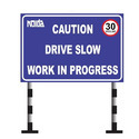 Retro Reflective Drive Slow Sign Board