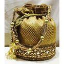 Decorative Jute Potli Bag