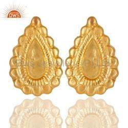 Gold Plated Brass Fashion Earring Jewelry