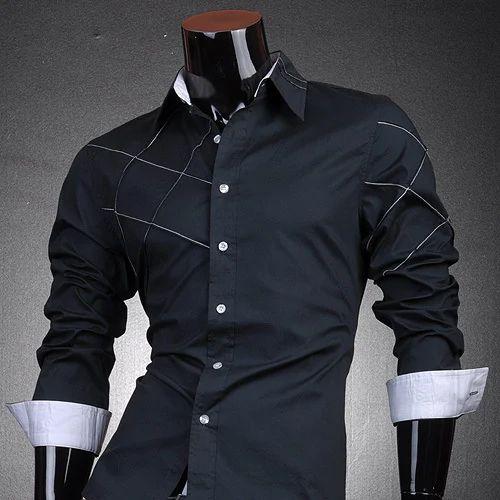 2f1b99377395 Black Cotton Boys Designer Shirt, Rs 250 /piece, Saravana Garments ...