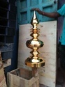 2 1/2 Ft Copper 24 Kt Gold Plated Gopura Kalash