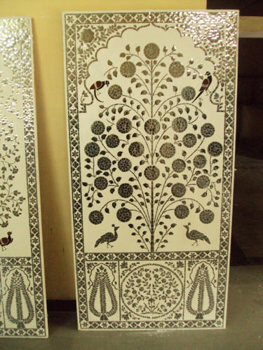 Glass Inlay ( Thikri Glass ) Decorative Wall Panel