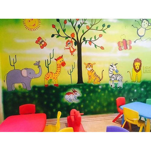 Lovely Kids Class Room Wall Art Painting