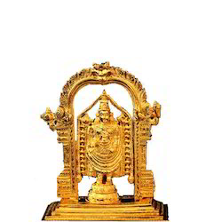 Lord Balaji Statue 10 Inch 24kt Gold Plated