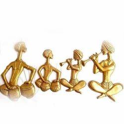 Brass Wall Plate Musicians
