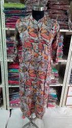 Casual Wear Printed Reyon Kurties