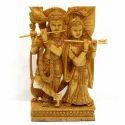 Radha Krishna Standing Playing Flute Wc063