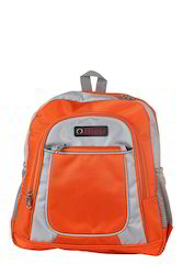 Orange & Grey Small School Bag