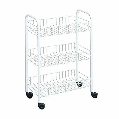 Wire World 3 Tier Rolling Cart Kitchen Storage Portable
