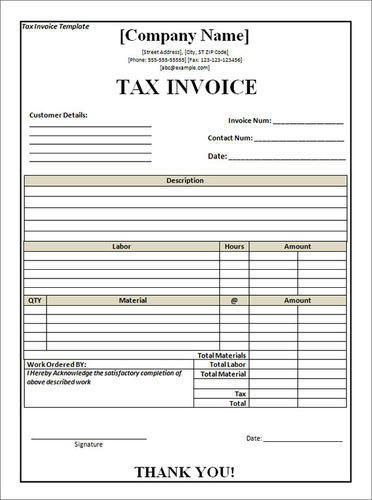 Tax Invoice Form  Gks Printers  Manufacturer In Nammalwarpet