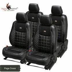 Leather Pegasus Premium 34 x 34 Inch Black Car Seat Cover