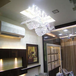New Feel Crystal Ceiling Led Jhumar With Speakers Pendrive