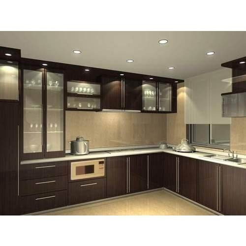 Straight Modular Kitchen 8 Square Modular Kitchens: Fancy Modular Kitchen At Rs 2000 /square Feet