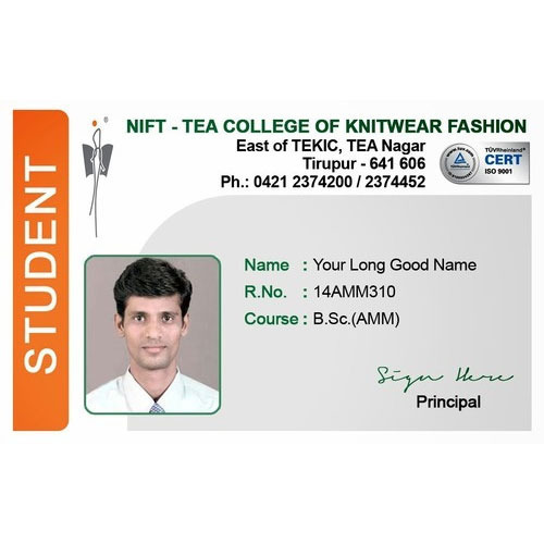 student identity card at rs 20 piece spectrum commercial centre