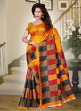 Silk Cotton Daily Wear Sarees, 6 M (with Blouse Piece)