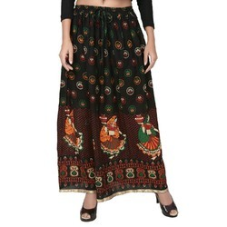 Women's Long Rajasthani Skirt