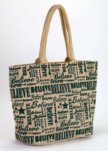 Jute Fancy Beach Bags, Jute Beach Bags - Earthyy Bags, Kolkata ...