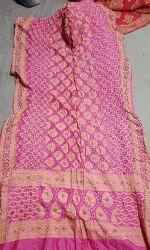 abe6ea49da27b Silk Gadhwal Bandhani Saree