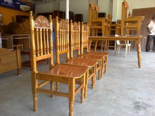 Not Sure Teak Wood Dining Table And Chairs Rs 15500 No S