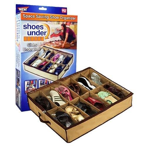 12 Pairs Shoes Storage Organizer Holder Intake Under Bed Clo At Rs
