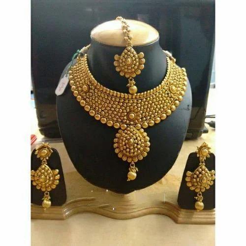 Antique Gold Necklace Set At Rs 318635 Piece Patparganj