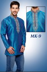 Embroidered Blue Kurta