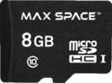 Maxspace 8 Gb Sdhc Memory Card With Adapter