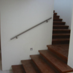 Wall Rail System With Secret Fixing